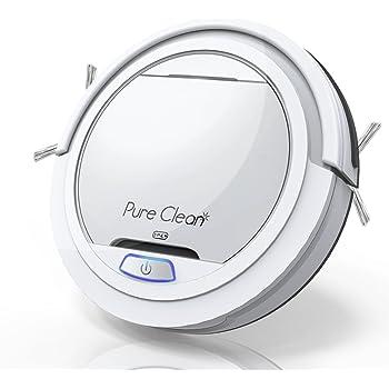 Pure Clean Robot Aspirador – Batería de litio actualizada de 90 minutos de tiempo de funcionamiento – Robot automático autodetecta escaleras, pelo de mascotas, alergias, limpieza robótica del hogar para alfombras de piso de madera dura – PUCRC25 V2