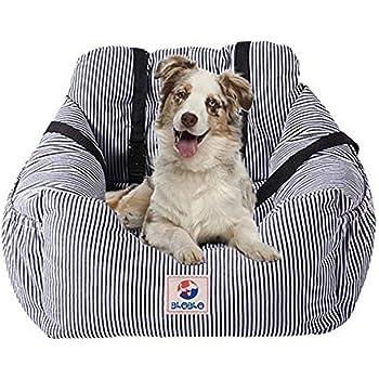 BLOBLO Dog Car Seat Pet Booster Seat Pet Travel Safety Car Seat Dog Bed for Car with Storage Pocket