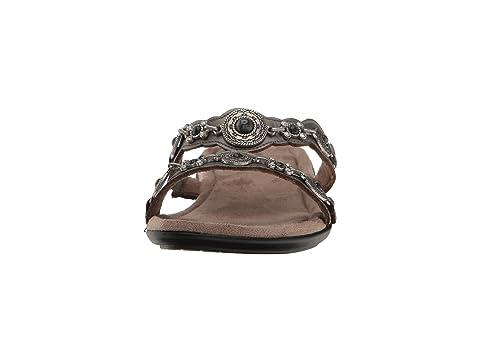 Minnetonka Boca Slide III Pewter Leather Cheap Sale Ebay Cheap Sale Real Cheap Sale Original Fashion Style Cheap Online 5l1ta