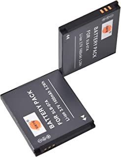 DSTE® アクセサリ Samsung SLB-07A 互換 カメラ バッテリー 2個 対応機種 PL150 ST500 ST550 ST560 ST600 TL210 TL220 TL225 TL90 [並行輸入品]