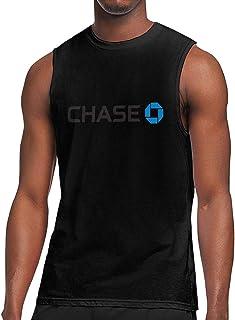 HaiguangZ Breathable JPMorgan Chase Bank Logo Cotton Sleeveless T-Shirt for Male White