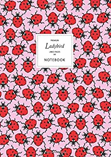 Ladybird Notebook - Lined Pages - A4 - Premium: (Pink Edition) Fun notebook 192 lined pages (A4 / 8.27x11.69 inches / 21x2...