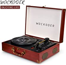 Record Player Turntable Vinyl 3 Speed Record Player Portable Wireless Phonograph Classic..