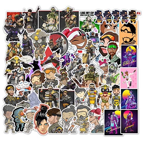 Apex Legends Sticker 50 Pcs Waterproof, Removable,Cute,Beautiful,Stylish Teen Stickers, Suitable for Boys and Girls in Water Bottles, laptops, Phones,Guitar, Suitcase Durable Vinyl