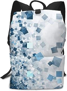 バックパックリュックサック大容量 ラップトップバッグ メンズ レディースカジュアルバッグ オシャレ 青いブロック 旅行バッグ 男の子 女の子通学リュック 男女兼用バッグ
