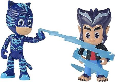Simba 109402223 PJ Masks - Juego de Figuras de Catboy con howler, Unisex para niños
