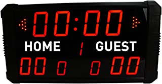 GAN XIN LED Professional 12/24/30 Seconds Shot Scoreboard Electronic Digital for Basketball, Baseball/Football/Tennis Multisport Scoreboard