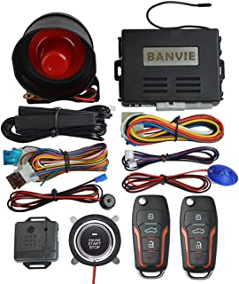 $69 » BANVIE PKE Car Alarm System with Remote Start and Push to Engine Start Stop Button