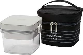 サーモス 保冷サラダコンテナー ブラック 二段式 DJR-950 BK