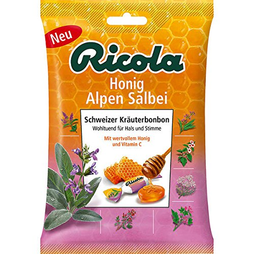 Ricola Honig Alpen Salbei mit Zucker, Tüten, 18er Pack (18 x 75 g Beutel)