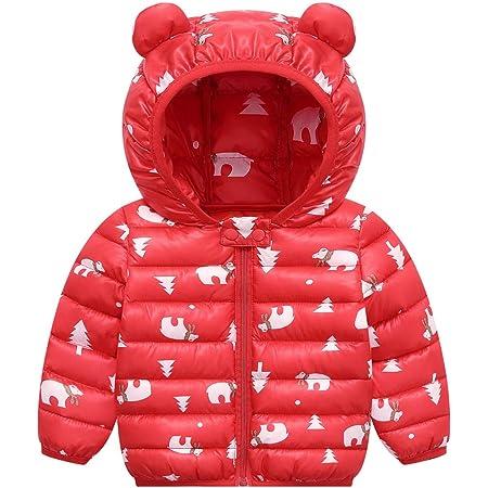 Niños Traje de Invierno, Chaqueta con Capucha Unisexo Abrigo de Ligero Impermeable Ropa para Bebé 2-3 Años