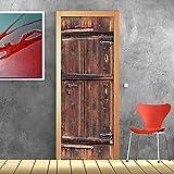 kina PT0180 Wall Art Decorazione Adesiva per Porte arredo casa - Porta Legno Antico - Stam...