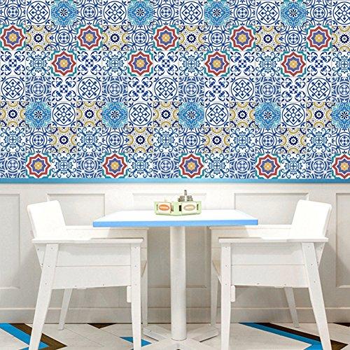 Per Pegatinas Decorativos Pared Adhesivos de Azulejos de Baño Resiste Agua Papel Pintado Pared Decorativo 20x500cm (B:002)