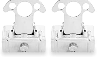 Bully WTD-823 Truck Bed Accessories Stainless Steel Cargo Tie-down Clamps (Pair) Adjustable Rubber Mount To Fit Most Bed Rails - Fits Most Chevy, Dodge RAM, Ford, GMC, Toyota Trucks and Others
