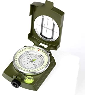 YEHOBU Multifunctional Lensatic Compass, Waterproof Military Grade Tactical Navigation Compasses Survival Emergency Luminous Sighting Compass for Hiking Camping Hunting Boy Scout