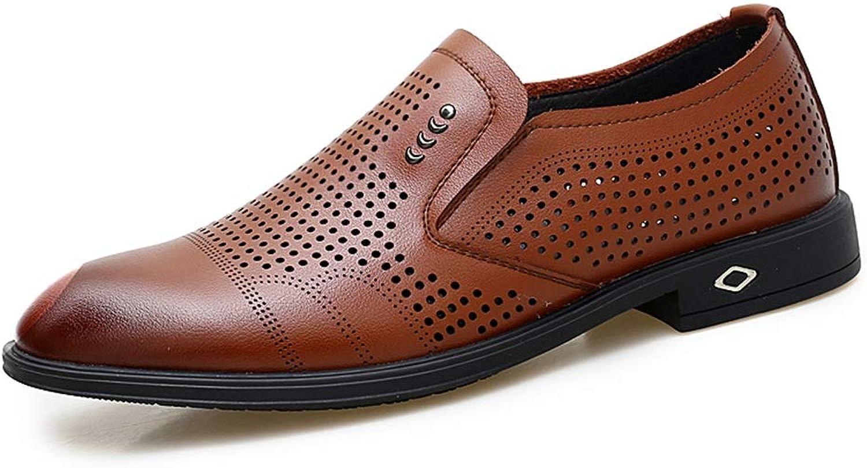 Hetai Mnner Oxfords Business Casual Mikrofaser weiches Leder rutschfeste atmungsaktive hohle Schuhe