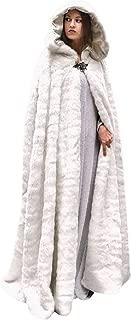 FAPIZI Women Winter Hooded Coat Vintage Solid Color Flannel Long Sleeve Long Wool Coat Faux Fur Jacket Cape Cardigans