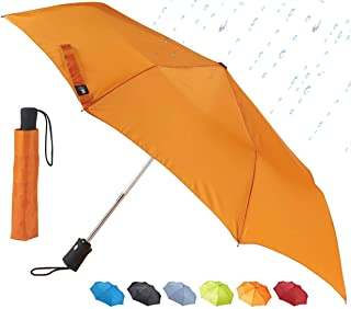 Lewis N. Clark Automatic Travel Umbrella, Orange (Orange) - 413ONG