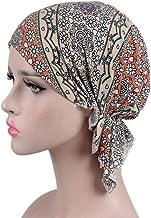 Eforstore Women's Cotton Hat Turban Bandana Head Scarf Pre-Tied Hair Loss Hat