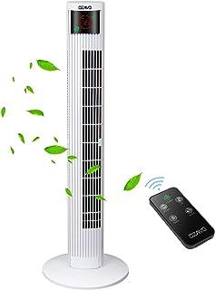 comprar comparacion OZAVO Ventilador de Torre Silencioso con Mando a Distancia | 45W 95.5CM | Oscilación de 70° | 3 Velocidades | 3 Modos | 12...