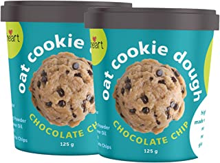 All heart Oat Cookie Dough - Chocolate Chip, 125g Each (Pack of 2)