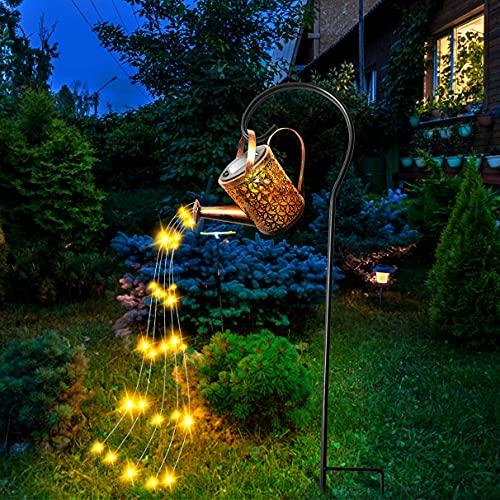 Solare Gartenleuchten,LED Gartenlichter Feenlampe, Gartenbeleuchtung Sternenhimmel-Gießkanne ip65 Wasserdicht, Sternenhimmel-Dusche Gartenkunstleuchten für die Garten-Rasendekoration im Freien