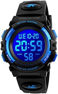 Kids Watch for Boys Girl Sports Waterproof 7 Colors LED Light Wrist Watches with Alarm Clock Stopwatch Calendar Outdoor