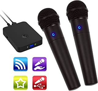 Cobble Pro Wireless Karaoke Microphone 2-pack Mic [Source Vocal Removal Technology][Choose Unlimited Music Source from YouTube, Compatible with iPhone iPad Phone Tablet] New Model BT Speaker Machine