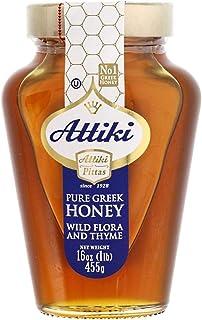 Attiki Pure Greek Honey with Wild Flora and Thyme - 16 oz Jar