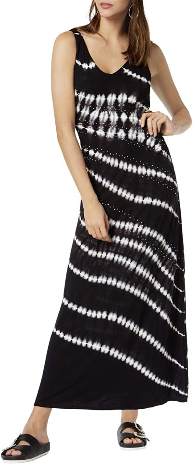 Inc Womens Petites One Shoulder TieDye Maxi Dress