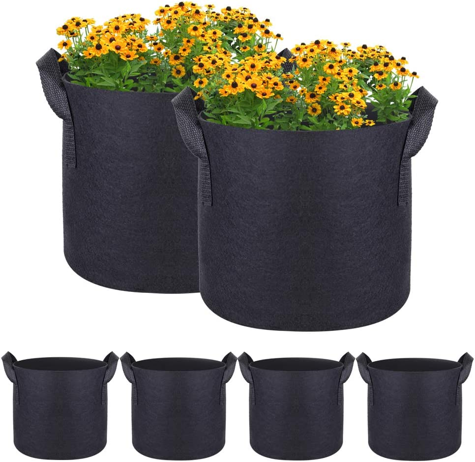 4-Pack 7 Gallons Albuquerque Mall Plant Grow Bags Thickened F Heavy Max 57% OFF Nonwoven Duty