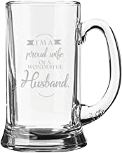 Yaya Cafe Birthday Valentine Gifts Proud Wife of Wonderful Husband Engraved Beer Mug - Playboy Beer 357ml