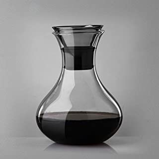 zhixing Wine Decanter & Accessories Aerator 1000ML Wine Carafe with Stainless Steel Lid Hand Blown 100% Lead-Free High Borosilicate glassUnique Gift for Drinker/Wine Lovers Business Winery