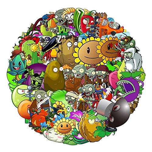 LMY 60 unidsDo no repetir P la nts vs Zo m bies juego pegatinas maleta refrigerador bicicleta dibujos animados doodle pegatinas