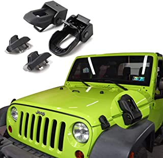 Jeep Hood Latch For 2007-2018 Jeep Wrangler Jk JL Black Stainless Steel Catch Kit Accessories To 2018 Jeep Wrangler