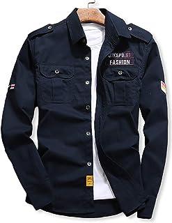 [スロウライド] メンズ 男性用 ミリタリー ジャケット シャツ トップス 長袖 薄手 カジュアル 部屋着 お洒落 大きい サイズ