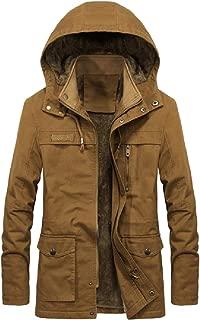 Mogogo Mens Velvet Lined Openwork Anorak Jacket with Chin Guard
