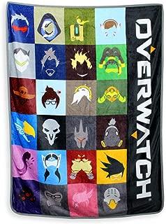 Just Funky Overwatch Heroes Fleece Blanket, 45 X 60 inches