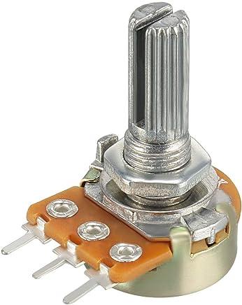 uxcell WH148 可变电阻器单转旋转碳膜锥度电压计 100K-1pcs a18072600ux0032