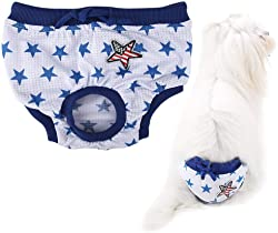 Pet Sanitary Pants, Cute Soft Female Menstrual Sanitary Shorts Diapers for Dog Puppy