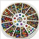 Uñas Postizas Puntas De Uñas Diy Nail Art Fashion Color Mezclado Nail Stone Ab Color Rhinestone Cuentas Irregulares Manicura Para Uñas Decoraciones De Arte Cristales-15