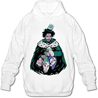 J-Cole Men's Casual Hoodies Fashion Pullover White