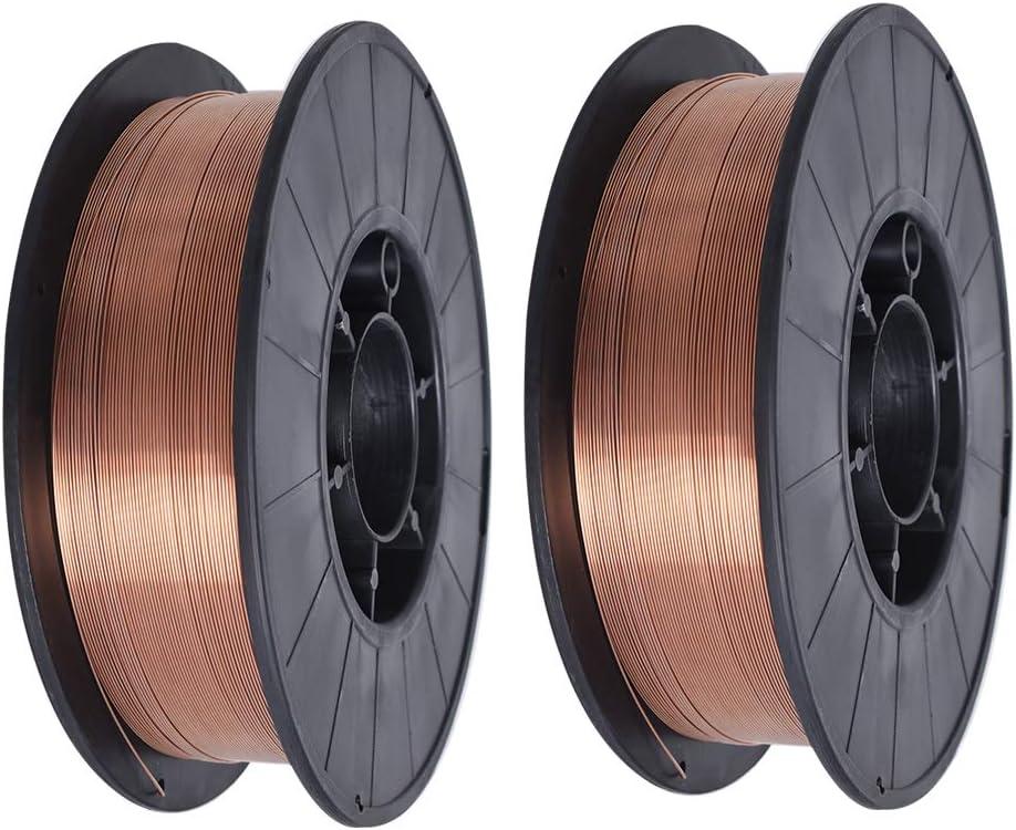 2 spool 0.035- ER70S-6 ER70S6 Mild Steel MIG Welding Wire .030 .035 .045 10Lb Spool