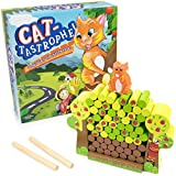Cat-tastrophe! - Classic Kitty Cat Board Game - Children's Balancing Wood Blocks Dexterity Games - Cute Animal Tumbling Tower for Game Night, Birthday Parties, & Family Fun