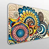 MEGADECOR Cabecero Cama PVC 10mm Decorativo Económico. Diseño Floral Mandala (200cm x60cm)