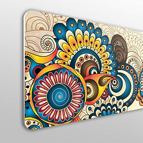 MEGADECOR - Testiera per Letto in PVC, 10 mm, Decorativa, Economica. Design Floreale Mandala