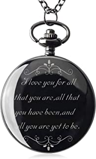 Samuel Personalized Gifts for Boyfriend Valentine's Day Gift for Boyfriend Men for Boyfriend Engraved Pocket Watch with Gift Box (I Love You for All)