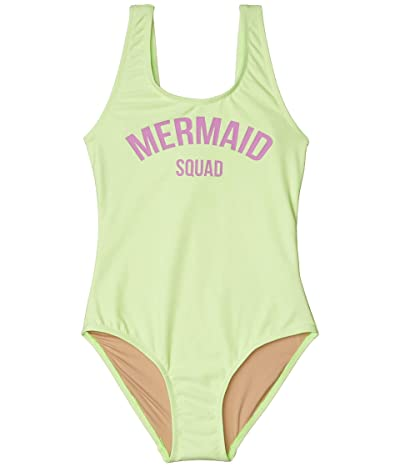 shade critters Mermaid Squad One-Piece (Toddler/Little Kids/Big Kids) (Citron) Girl