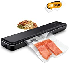 Vacuum Sealer Machine By GOZYE,Automatic Vacuum Air Sealing System For Food Preservation,Multi-use Home Vacuum Packing Machine With 20 sealing Bags Kit,Dry & Moist Food Modes