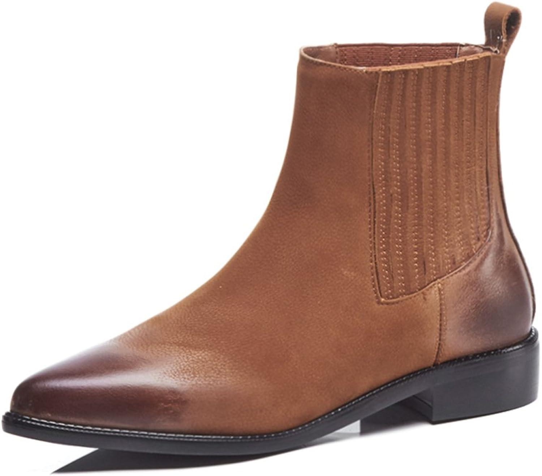 ANNIEschuhe Stiefeletten Damen Damen Chelsea Stiefel Blockabsatz Absatz  Qualität zuerst Verbraucher zuerst